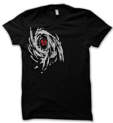 Wear this naruto inspired t shirt to awaken the mangekyo sharingan inside you and gain the special ability of kamui just like obito and kakashi had.