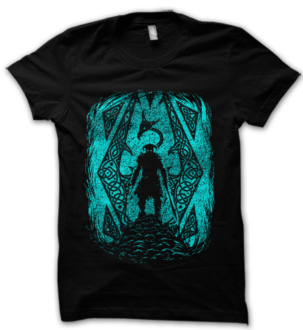 Venture into the wilderness with this skyrim inspired dragonborn t shirt in your inventory for confirmed dragon kills.