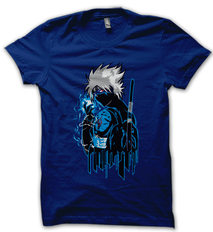 No need to keep thousands of birds, just wear this naruto t shirt to hear that goose bump inducing chirping sound and oh yes, also for that kakashi's trademark chidori attack.