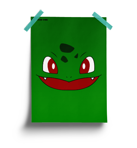 Get this bulbasaur inspired pokemon poster to remind you of how green life can be.