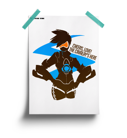 Cheers love! Tracer inspired overwatch poster is here.